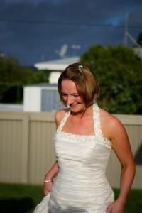 Backyard wedding pics can be classy!