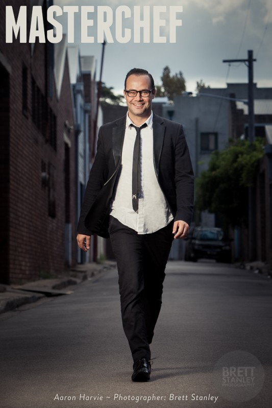 Aaron Harvie Australian Masterchef - Brett Stanley Advertising Photographer