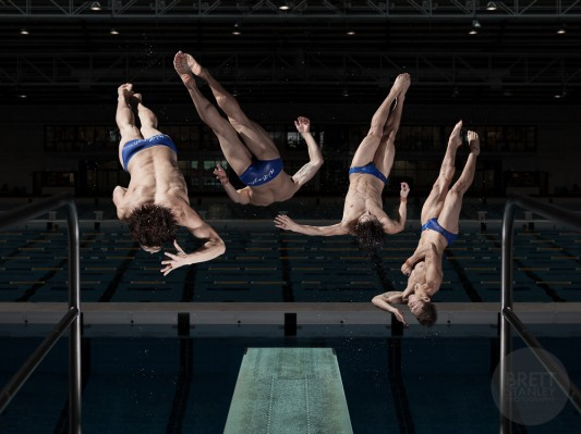 Li Feng Yang New Zealand Olympic Diver - Brett Stanley Advertising Photographer