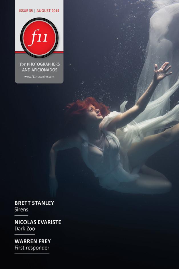 f11 Magazine August 2014 Cover - Brett Stanley Underwater Photographer